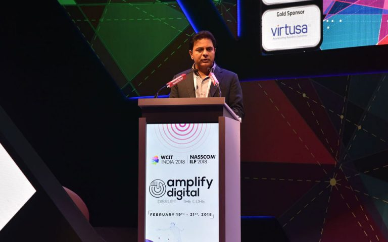 Minister-KT-Rama-Rao-addressing-in-the-WCIT-2018