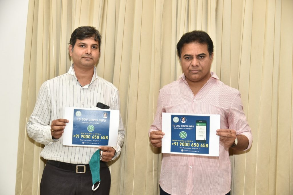 Minister-KTR-launched-COVID19-WhatsApp-Chatbot-06-04-2020